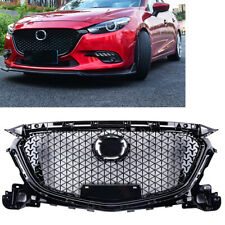 Front Bumper Grill Honeycomb Grille For Mazda 3 Axela 2017 - 2018 Black MO
