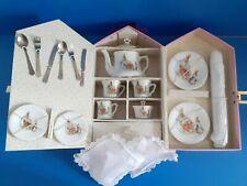 More details for reutter porcelain  beatrix potter  peter rabbit tea set  boxed