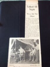 73-1 Ephemera 1950 Thanet Amateur Radio Society In Tent