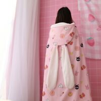Anime Sailor Moon Flannel Blanket Hoodie Cape Warp Shawl Warm Nap Cloak Costume