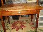 Antique wooden table with 1 drawer