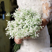 20pcs Artificial Fake Silk Gypsophila Baby's Breath Flower Wedding Bouquet Decor