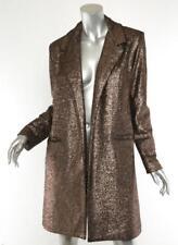 SIRAN Womens Bronze Metallic OLIVIA Oversized Blazer Jacket US 0 UK 6 NEW $1800