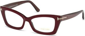 Tom Ford Women's TF5363 TF 5363 071 Bordeaux Optical Frame 53mm New Rxable