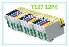 12 PK 127 T127 Ink Cartridge for Epson WorkForce WF3520 7010 3540 545 7510 NX625