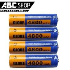 4 PILES AA ACCUS RECHARGEABLE MIGNON 4800mAh Ni-MH 1,2V LR06 R06 R6 H06 H6 RC6