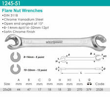 Whirlpower - Flare Nut Wrench, Satin Finish 25x28mm - Automotive Tools NEW