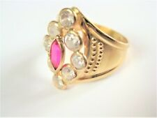 Ring Gold 585 with Red Spinel, 4,02 g
