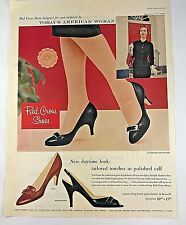 1957 Red Cross Shoes Women's Fashions Vintage Print Ad 1950s MCM