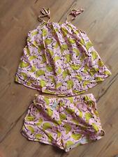 Zara Kombi Set Sommer rosa mit Bananen Motiv 146 152 158 Outfit