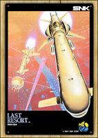 LAST RESORT - RARE Metal Wall Tin Sign Arcade Game Poster snk neo geo neogeo