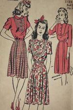 1940s Advance pattern 3258 Dress Bust 30