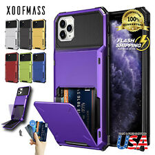 Wallet ID Slot Credit Cards Holder Drop Bumper Case For iPhone 11 Pro MAX XR 8 7