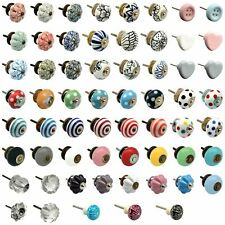 Vintage Door Knobs Ceramic Glass Cupboard Cabinet Drawer Pull Handles
