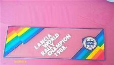 Lancia delta hf integrale evoluzione 16v stickers adesivo lunotto world rally ch
