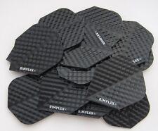 Bulk Pack of 15 Dimplex Dart Flights - Black