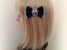 Black veil brides Andy Biersack hair bow clip rockabilly pin up girl retro emo