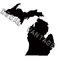 Michigan Vinyl Sticker Decal State MI - Choose Size & Color