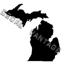 Michigan Vinyl Sticker Decal State MI - Choose Size & Color