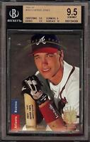 Rare 1993 SP Foil #280 Chipper Jones Atlanta Braves BGS 9.5 Gem Mint - 2018 HOF!
