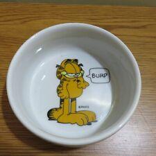 "Vintage Garfield ""My Bowl"" Burp Car Food Bowl"