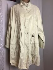 Ladies College Lightweight Raincoat Sherbet Yellow with Sheen Mac Size 42  UK 14