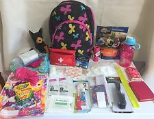 Childs Girls Emergency Preparedness Bug Out Survival bag gear butterfly backpack