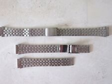 LOT DE 2 BRACELETS  MONTRE METALLIQUE  12 MM ACIER INOXYDABLE