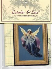 """XSTITCH MATERIALS W/ LINEN  - """"ANGEL OF THE MORNING L&L53"""" BY Lavender and Lace"""