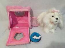 Pucci Pups white Maltese pink carrying bag clothes jewelry & magnetic bowl bone