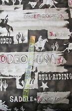 Brown Rodeo horse cotton fabric Large Scale print western theme BTY 1 yard cut