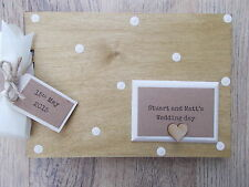 PERSONALISED WEDDING CIVIL PARTNERSHIP WOODEN SCRAPBOOK/PHOTO BOOK /MEMORIES