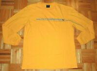 Nautica Competition Vintage 90s T Shirt Long Sleeve Yellow USA Made Mens Large