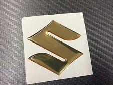 Adesivo Resinato SUZUKI 3D cromo oro 45 mm