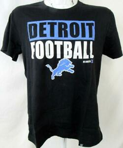 Detroit Lions Mens Large Short Sleeve Screened LIONS FOOTBALL T-shirt ALIO 123