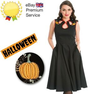 Banned Retro 50s Rockabilly Goth Halloween Pumpkin Spice & All Things Nice Dress