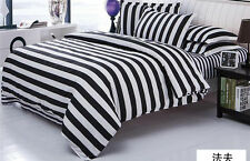 Personality Black and White A Family Set of Four Fashion Sheet Pillowcase Quilt