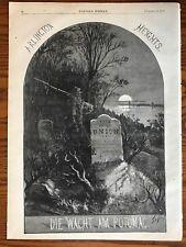 Thomas Nast. Die Wacht Am Potomac.  Wood Engraving, 1871.