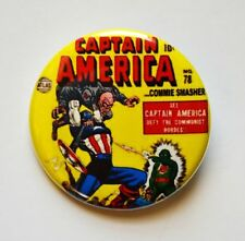 "Captain America Classic Cover Soviet Threat Pinback Button 1.5"" - Free Shipping"