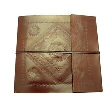 Fair Trade Handmade Embossed Large Leather Photo Album Scrapbook Sketchbook