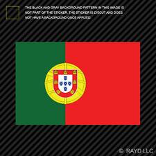 "4"" Portuguese Flag Sticker Decal Self Adhesive Vinyl Portugal PRT PT"