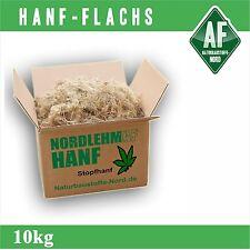 10kg Stopfhanf Dämmung Hanffasern Lehmbau