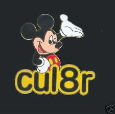 Disney Mickey Mouse Text Message CUL8R Pin