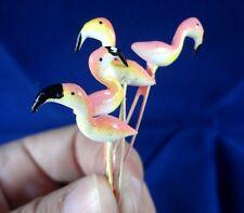 10PCS MINIATURE FLAMINGO BIRDS ANIMAL STAKES FAIRY GARDEN TERRARIUM DECOR CRAFT*