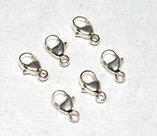 9.3mm Teardrop Lobster Clasps .925 Sterling Silver Jewlery Findings Design 6pk