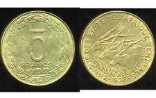 AFRIQUE CENTRALE  5  francs 1978