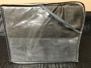 Threshold Dark Gray Pinch Pleat 3 Piece Duvet Cover Set - King