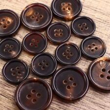 Double Breasted Natural Dark Brown Real Buffalo Horn Suit Set Button Bespoke DIY