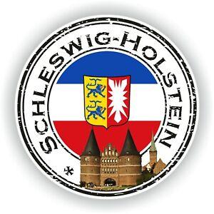Schleswig-Holstein Flagge Aufkleber Motorrad Helm Autoaufkleber
