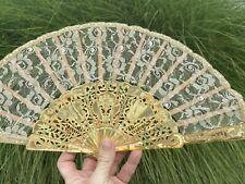 Fancy Vintage Chantilly Lace Hand Fan